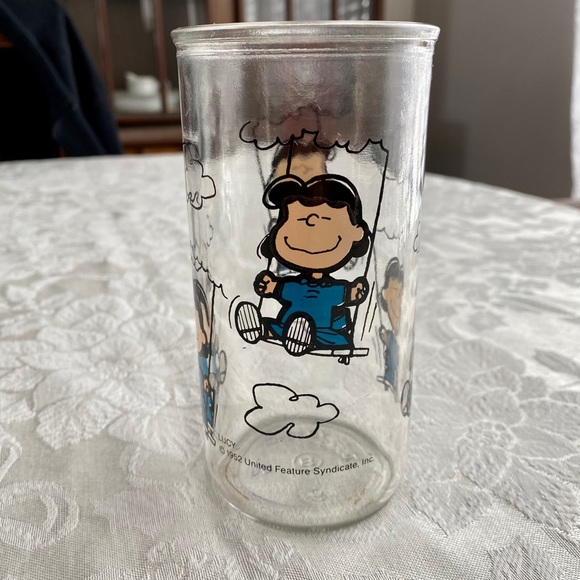 Vintage 1952 Peanuts Lucy jelly jar